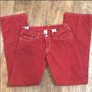 Lucky Brand | Red Flare Dungarees size 2